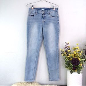 Old navy mid rise skinny jeans light wash stretch